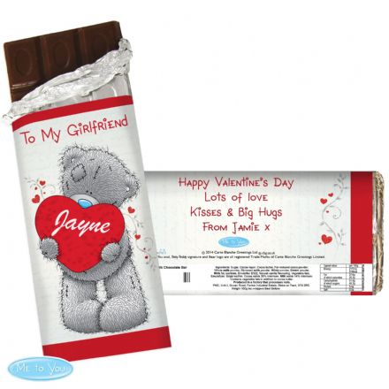 Personalised Me to You Big Heart Chocolate Bar